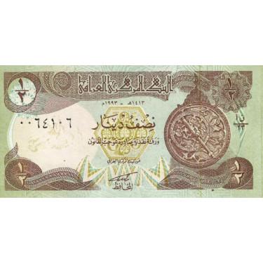 Irak 1/2 Dinar 1993 P-78a