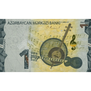 Azerbajdzjan 1 Manat 2020...