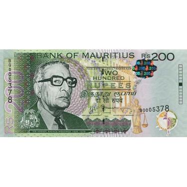 Mauritius 200 Rupees 2013...