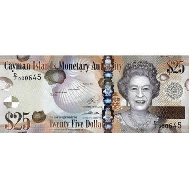 Cayman Islands 25 Dollars...