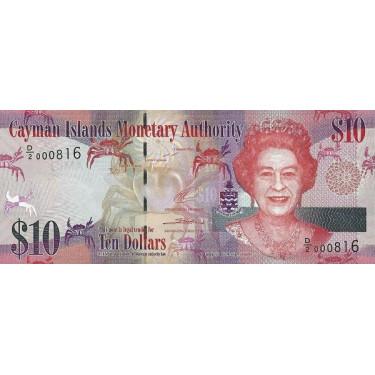 Kaymanöarna 10 Dollars 2014...