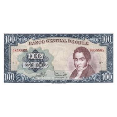 Chile 100 Escudos ND 1962...