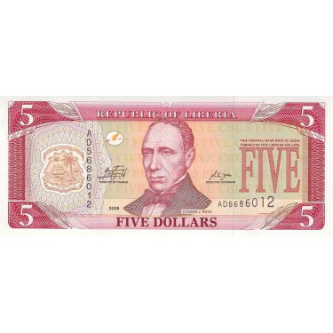 Liberia 5 Dollars 2009 P-26e