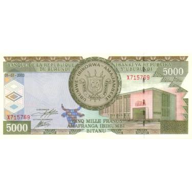 Burundi 5000 Francs 2003 P-42b