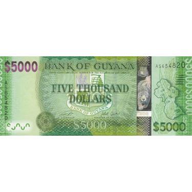 Guyana 5000 Dollars 2015 P-40b