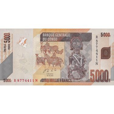 Kongo 5000 Francs 2020 P-new