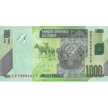 Congo 1000 Francs 2020 P-new