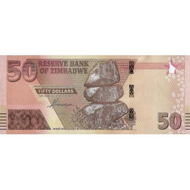 Zimbabwe 50 Dollars 2020...