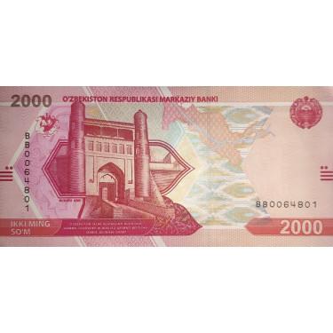 Uzbekistan 2000 Som 2021 P-new
