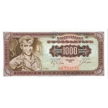 Jugoslavien 1000 Dinara...