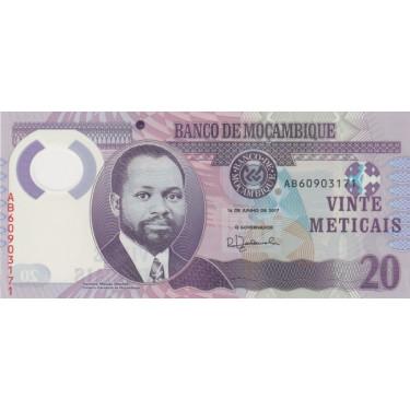 Mozambique 20 Meticais 2017...