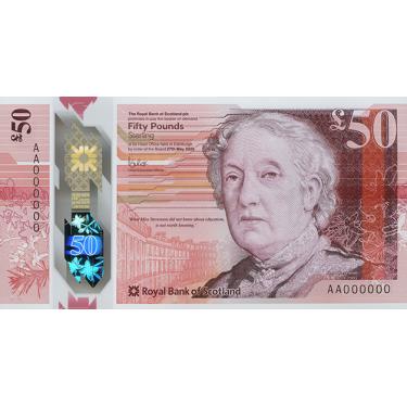 Scotland 50 Pounds RBS 2021...