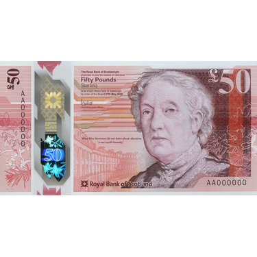 Skottland 50 Pund RBS 2021...