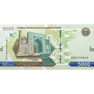 Uzbekistan 5000 Som 2021 P-new