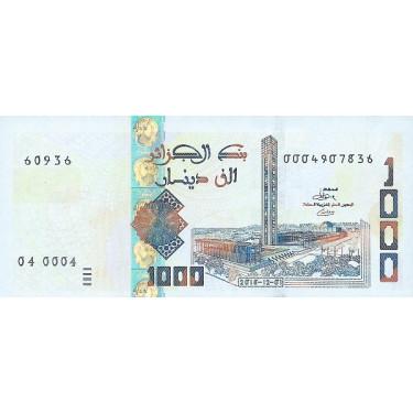 Algeriet 1000 Dinars 2018...