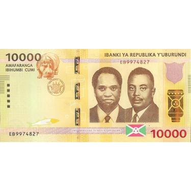 Burundi 10 000 Francs 2015...