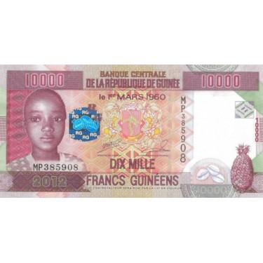 Guinea 10 000 Francs 2012 P-46