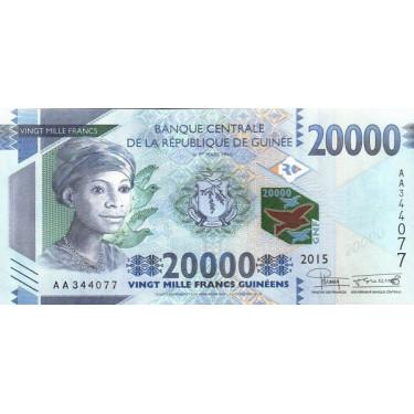 Guinea 20 000 Francs 2015 P-50