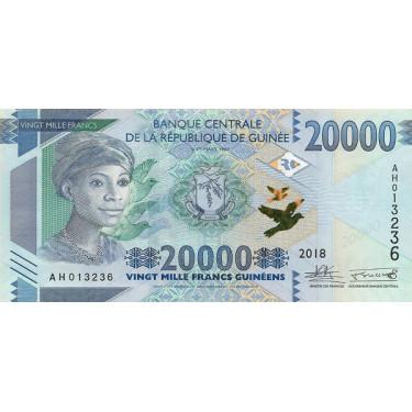 Guinea 20 000 Francs 2018...