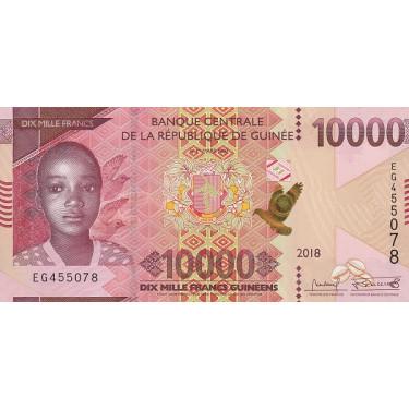 Guinea 10 000 Francs 2018...