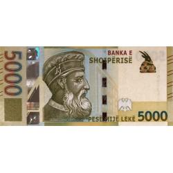 Albania 5000 Leke 2017 P-new