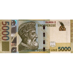 Albanien 5000 Leke 2017 P-new