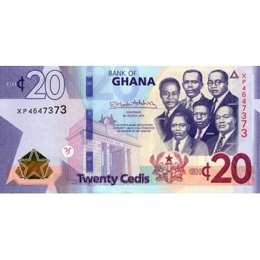 Ghana 20 Cedis 2019 P-new UNC