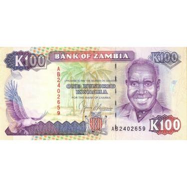 Zambia 100 Kwacha 1991 P-34