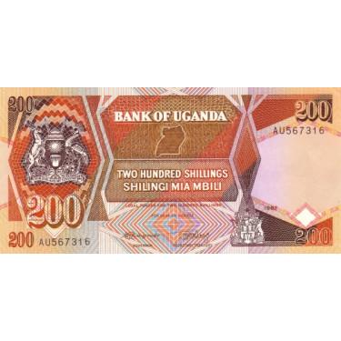 Uganda 200 Shillings 1987...