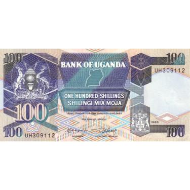 Uganda 100 Shillings 1988...