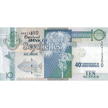 Seychelles 10 RUPEES 2013...