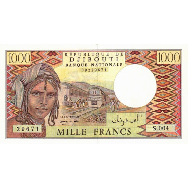Djibouti 1000 Francs ND P-37e