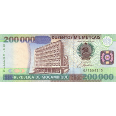 Mozambique 200 000 Meticais...