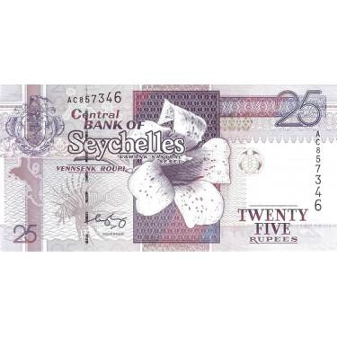 Seychellerna 25 Rupees ND...