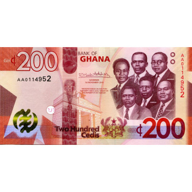 Ghana 200 Cedis 2019 P-51