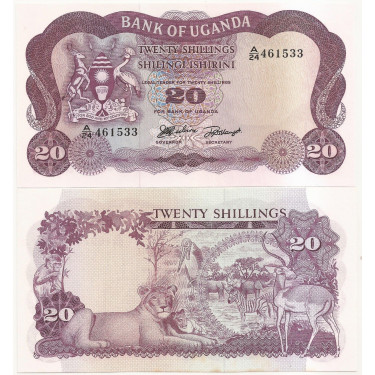 Uganda 20 Shillings 1966 P-3