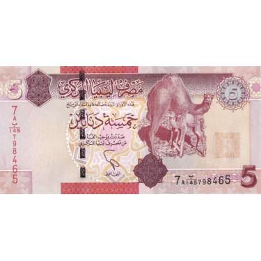 Libya 5 Dinars 2011 P-77