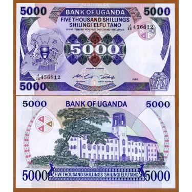 Uganda 5000 Shillings 1986...