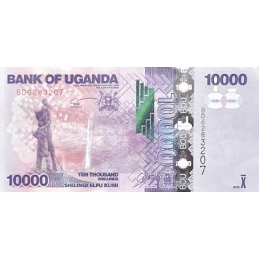 Uganda 10000 Shillings 2015...