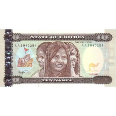 Eritrea 10 Nakfa 1997 P-3