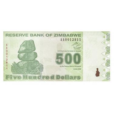 Zimbabwe 500 Dollars 2009 P-98
