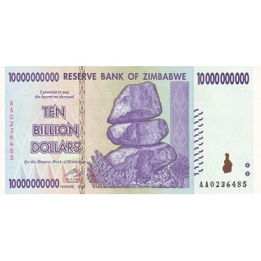 Zimbabwe 10 Billion Dollars...