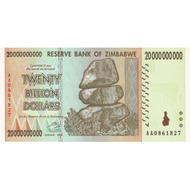 Zimbabwe 20 Billion Dollars...