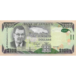 Jamaica 100 Dollars 2018 P-95