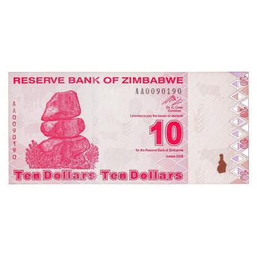 Zimbabwe 10 Dollars 2009 P-94