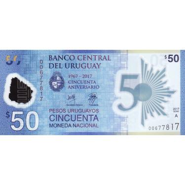 Uruguay 50 Pesos 2017 P-100