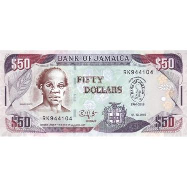 Jamaica 50 dollars 2010 P-88