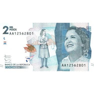 Colombia 2000 Pesos 2015...