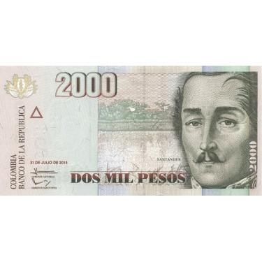 Colombia 2000 Pesos 2014...