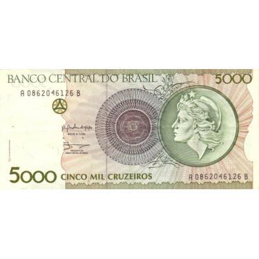 Brazil 5000 Cruzeiros 1990...